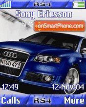 Audi RS4 Blue es el tema de pantalla