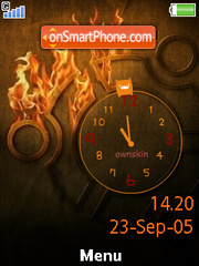 Fire Clock es el tema de pantalla