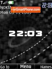 BW clock anim theme screenshot