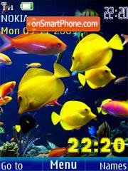 Swf underwater clock slide tema screenshot