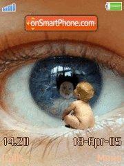 Baby eye es el tema de pantalla