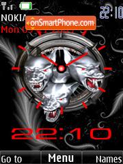 Cerber clock theme screenshot