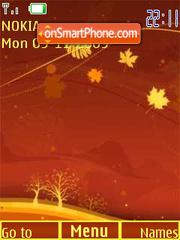 Autumn theme, flash animation theme screenshot