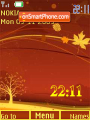 Autumn clock animation theme screenshot