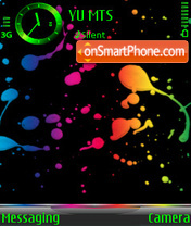 Splatters theme screenshot