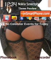 Black Panties theme screenshot
