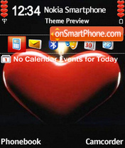 Heart Candle theme screenshot