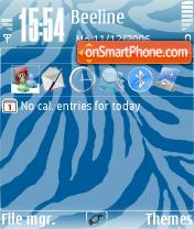 Zebra Glasses tema screenshot