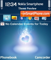Love Blue theme screenshot