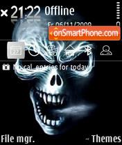 Скриншот темы Ghost skull 01