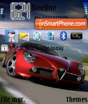 Alfa Romeo 8C theme screenshot