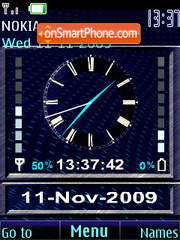 Swf clock blue theme screenshot