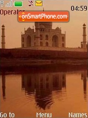 Taj Mahal theme screenshot