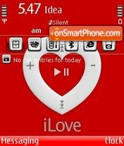 Скриншот темы Ipod Love