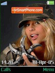 Sniper girl es el tema de pantalla