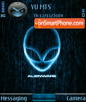 Alienware theme screenshot
