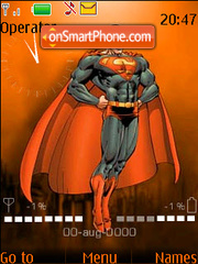 Superman fl.1.1 tema screenshot
