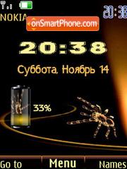 Swf spider clock es el tema de pantalla
