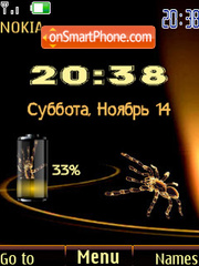 Swf spider clock tema screenshot