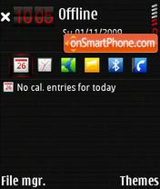 Скриншот темы Carbonara Red