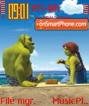 Beach Shrek theme screenshot