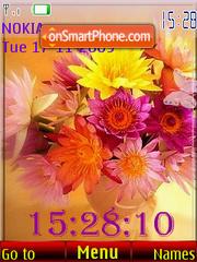 Скриншот темы Flowers SWF