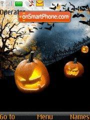 Скриншот темы Halloween Night 02