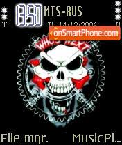 Goldberg Skull Logo theme screenshot