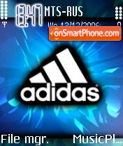 Adidas Sport Logo theme screenshot