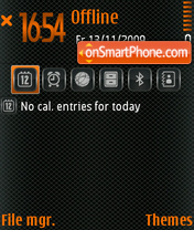 Carbon Orange V2 theme screenshot