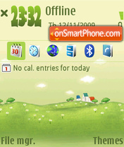 Green Land 01 theme screenshot