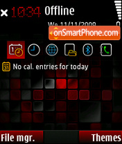 Mozaic Satio theme screenshot