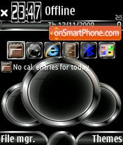 Black balls tema screenshot