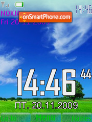 Landscape SWF Clock theme screenshot