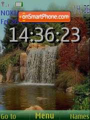 Waterfall SWF theme screenshot
