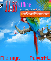 Colours Parrot theme screenshot