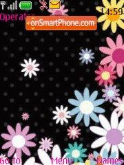 Capture d'écran Flower thème