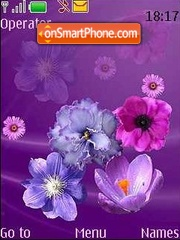 Violet flowers theme screenshot
