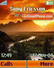 Mountain Sunrise theme screenshot