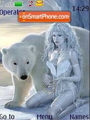 Скриншот темы Polar winter