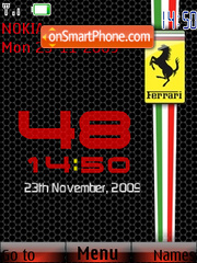 Ferrari SWF Clock tema screenshot