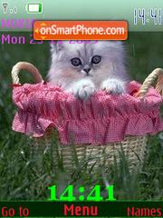 Kitten in Basket SWF theme screenshot