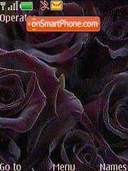 Скриншот темы Black rose