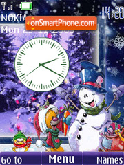Winter4 clock animated es el tema de pantalla