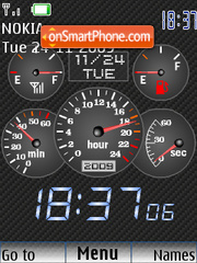 Clock car theme screenshot