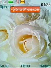 White rose theme screenshot