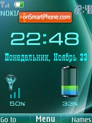 Clock, date & battery theme screenshot