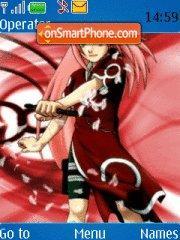 Sakura Haruno theme screenshot