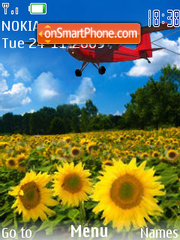 Скриншот темы Sunflower SWF