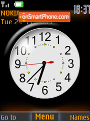 Orange Clock tema screenshot